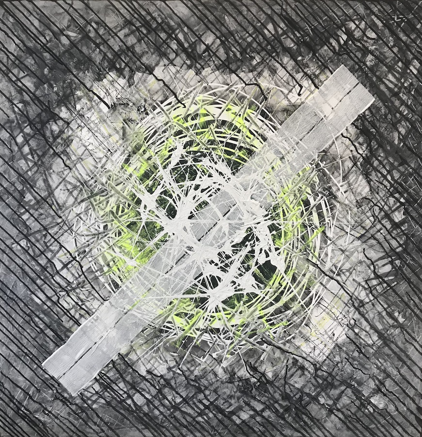 Andrea Wedel, Fokus, 100x100, Acryl, 1200 Euro, kunst@andreawedel.ch